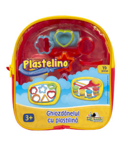 Set de modelare Plastelino, Ghiozdanelul cu plastelina, 19 piese