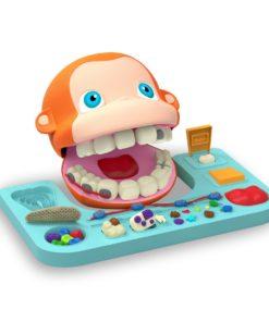 Set de joaca Plastelino - Maimutica la dentist cu plastilina 2