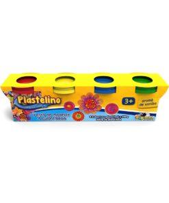 Plastelino - Pasta de modelat Neon, 4 culori