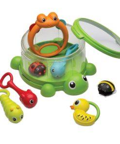 Jucarie bebelusi B Kids Turtle Cover Band 8 instrumente percurtie
