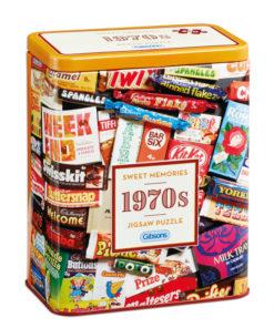 Puzzle in cutie metal 500 piese Dulciurile anilor 1970