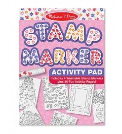 Set de stampile marker si caiet cu activitati