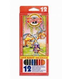 Set 12 creioane colorate monstrii spatiali - Koh I Noor