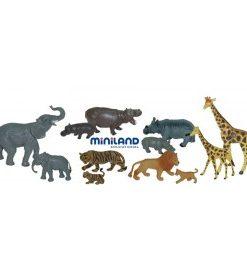 Animale salbatice cu puii set de 12 figurine - Miniland