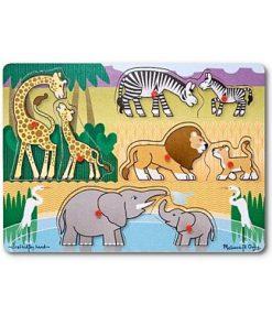 Puzzle din Lemn Safari