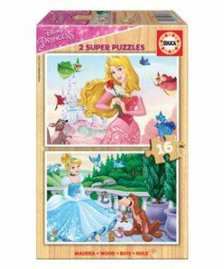 Puzzle Disney Princesses, 2 x 16 piese