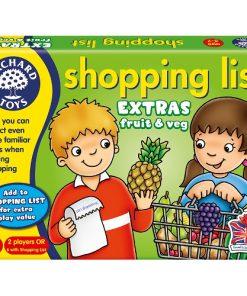 Joc Educativ Lista de Cumparaturi Fructe si Legume