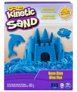 Kinetic Sand Deluxe, Albastru neon, 680 grame