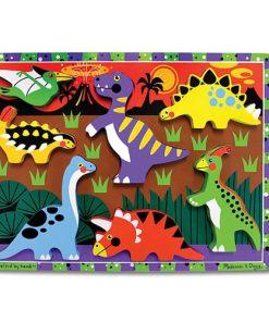 Puzzle Lemn in Relief Dinozauri
