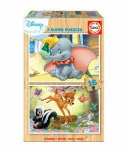 Puzzle Disney Animals Dumbo+Bambi, 2 x 16 piese