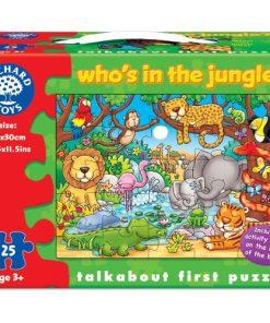 Puzzle cu Activitati Cine este in jungla?