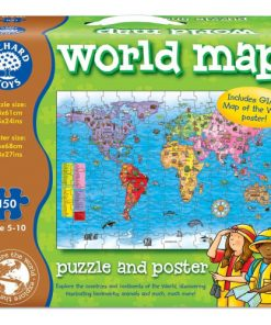 Puzzle si Poster Harta Lumii 150 Piese