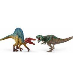 Figurine schleich set figurine spinosaurus si trex sl41455