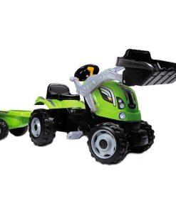 Tractor cu Pedale si Remorca Farmer Max Verde