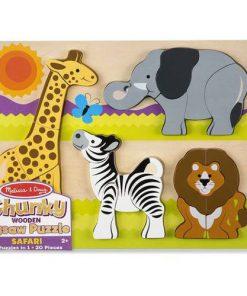 Puzzle din Lemn Jumbo Safari