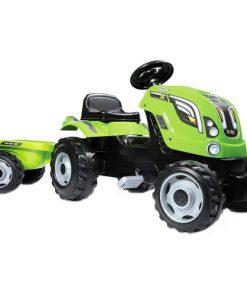 Tractor cu Pedale si Remorca Farmer XL Verde