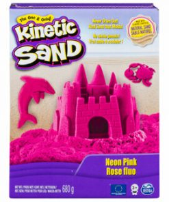 Kinetic Sand Deluxe, Roz neon, 680 grame