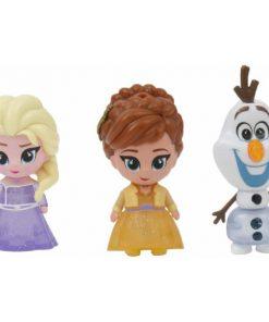 Set 3 Mini Figurine Elsa Anna si Olaf Whisper and Glow Frozen 2