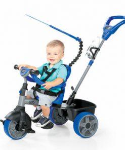 Tricicleta 4 in 1 Little Tikes, albastru