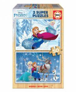 Puzzle Frozen, 2 x 50 piese