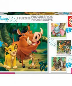Puzzle-uri progresive Disney Animals, 12-16-20-25 piese