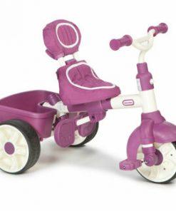 Tricicleta sport 4 in 1 Little Tikes, roz-alb
