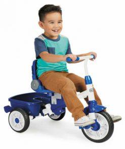 Tricicleta 4 in 1 Little Tikes Perfect Fit, Albastru