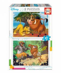 Puzzle Disney Animals, 2 x 20 piese