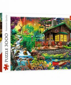 Puzzle Trefl Cabana din padure, 3000 piese