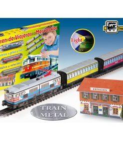 Trenulet Electric cu Far Colorat