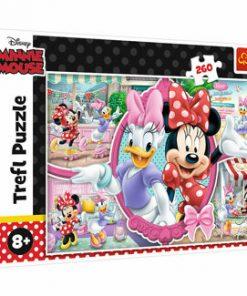 Puzzle Trefl O zi fericita cu Minnie, 260 piese