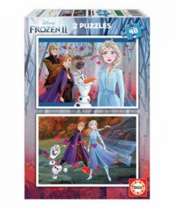 Puzzle Frozen 2, 2 x 48 piese