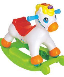 Balansoar ponei 2 in 1 cu sunete si lumini