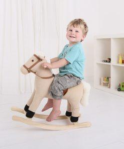Balansoar Little Mom din plus pentru copii Rocking Horse cu roti