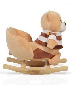 Balansoar pentru copii Bear Khaki cu sunete
