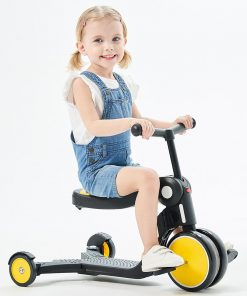 Bicicleta tricicleta si trotineta Chipolino All Ride 4 in 1 yellow