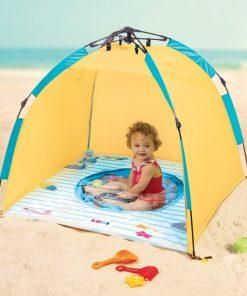 Cort de plaja cu minipiscina si protectie UV50 Ludi