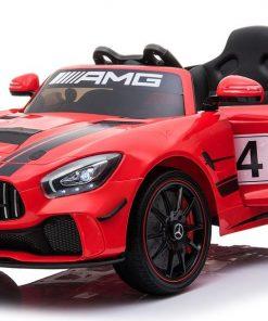 Masinuta electrica Mercedes AMG GTR 4 cu roti din cauciuc Red