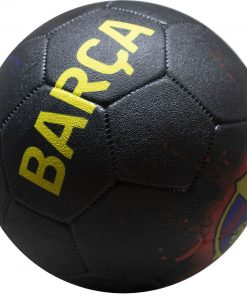 Minge FC Barcelona Streetball Logo Grafitti neagra marimea 5