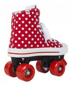 Role Rookie Canvas High Polka Dots rosu cu alb 40.5