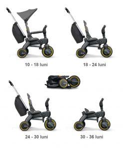Tricicleta pliabila Doona Liki Trike S3 Grey Hound model 2019