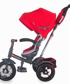 Tricicleta multifunctionala cu roti gonflabile Coccolle Giro Plus Rosu