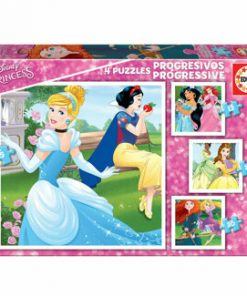 Puzzle-uri progresive Disney Princess, 12-16-20-25 piese