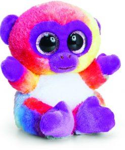 Maimutica de plus Animotsu Rainbow Monkey 15 cm