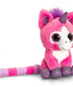 Unicorn de plus Roz cu ochi stralucitori 14 cm