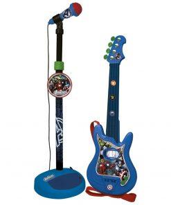 Set chitara si microfon pentru baieti Avengers