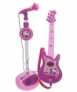 Set chitara si microfon pentru fete Hello Kitty