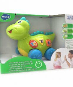 Jucarie interactiva Hola Toys, dinozaurul interactiv cu sunete si lumini