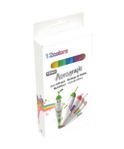 Set 12 rezerve cu culori pentru marker Aerograph Lexibook