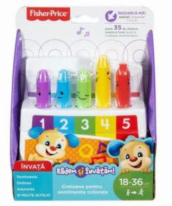 Creioane Colorate Cu 35 De Sunete Si Melodii Limba Romana Fisher Price